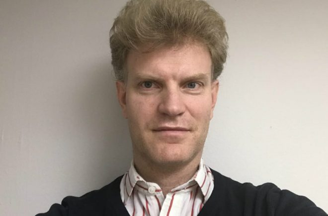Magnus Hägglöv, författare och egenutgivare, är en av initiativtagarna till Fantastikbokklubben.