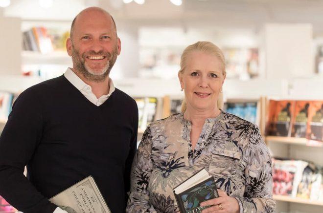 Mårten Andersson, VD  Volati och Maria Hamrefors, VD Akademibokhandeln. Fotograf: Niclas Liedberg