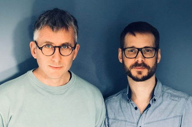 Mattias Lundgren, Word Audio Publishing International (WAPI) och Mattias Linderoth, Read Out Loud. Foto: Malin Lundgren