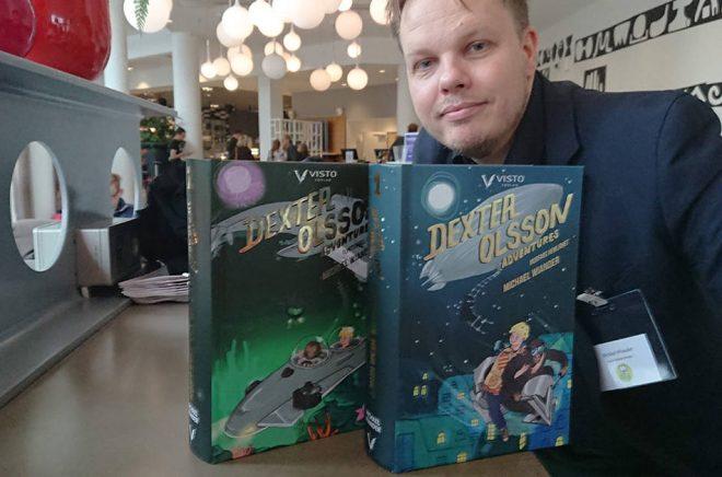 Författaren Michael Wiander har höga ambitioner för sin Dexter Olsson-serie. Foto: Sölve Dahlgren