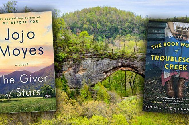 Har Jojo Moyes nya roman (till vänster) inspirerats av Kim Michele Richardsons (till höger)? Båda är historiska romaner om de ridande bibliotekarierna i 1930-talets Kentucky. Bakgrundsfoto: iStock.