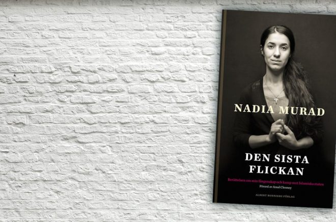 Författaren Nadia Murad är i Sverige utgiven på Albert Bonniers förlag. Bakgrundsbild: iStock.