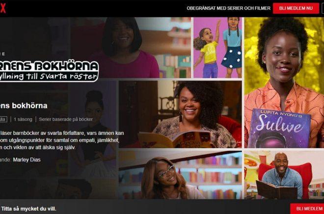 Videoboken är redan här. I den här serien låter Netflix svarta kändisar läsa barnböcker skrivna av svarta författare. Men i framtiden kan videoboken blir en metod för budgetfilmatisering. Bild: Skärmdump.