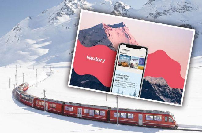 Nextory är nu lönsamt i Schweiz och lanserar i Sverige, eller var det tvärtom? Foto: iStock och Nextory. Montage: Boktugg.