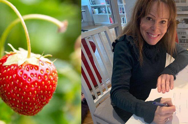 Ninni Schulman skriver på för Strawberry Publishing som ska ge ut fyra böcker i tre länder. Bakgrundsfoto: iStock. Foto: Pressbild.