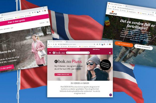 Den norska marknaden för strömmade digitala böcker har tre aktörer. Två stora med dominerande förlagshus i ryggen och en liten utmanare. Bakgrundsfoto: iStock.