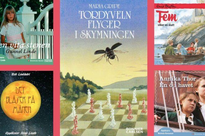 Några av de mest populära nostalgiböckerna på Nextory. Foto: Nextory