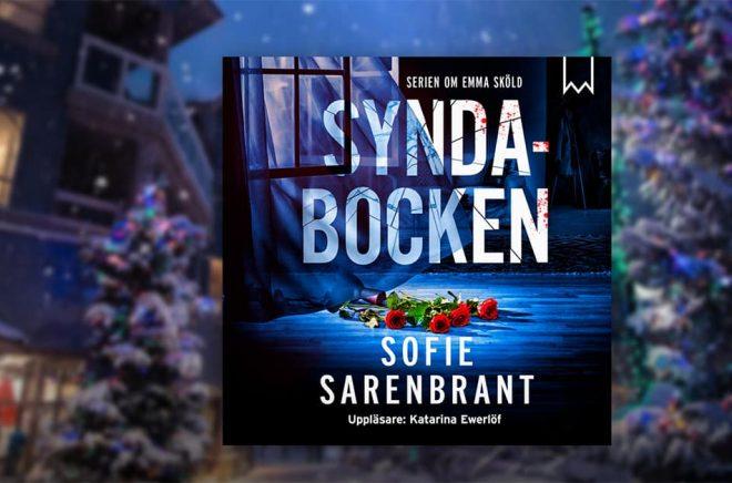 Mest lyssnade boken på Storytel under 2018 blev Syndabocken av Sofie Sarenbrant. Bild: Storytel.