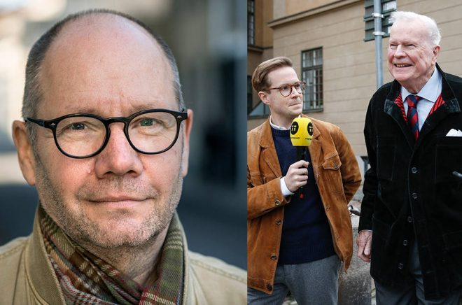 Peter Englund (foto: Anders Wiklund/TT ) och Kjell Espmark (foto: Fredrik Persson/TT) återvänder till arbetet i Svenska Akademien.