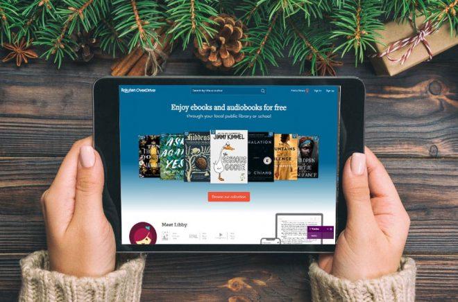 Rakuten Overdrive heter bolaget och tjänsten som hjälper bibliotek att låna ut eböcker. Men nu har Rakuten kommit överens om att sälja Overdrive till KKR. Foto: iStock. Fotomontage: Boktugg.