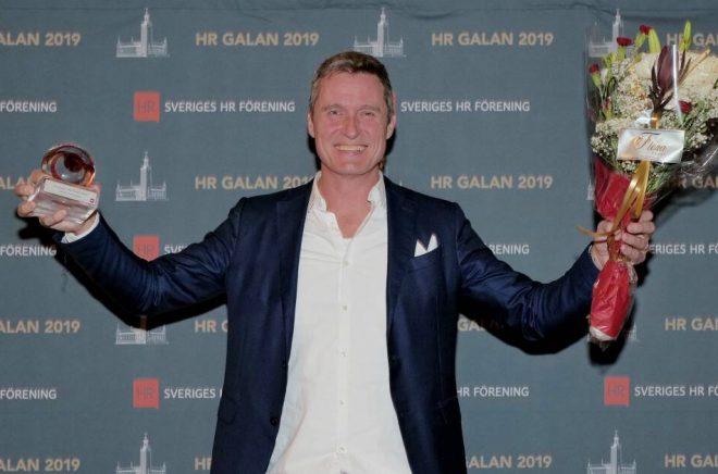 Jonas Tellander, vd för Storytel, vinner priset Sveriges HR-profil 2019. Foto: Sveriges HR-förening