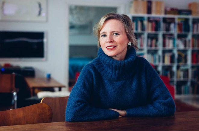 Den finlandssvenska författaren och förläggaren Sara Ehnholm Hielm. Foto: Niklas Sandström