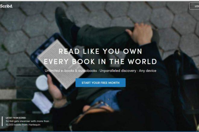 Scribd-frontpage