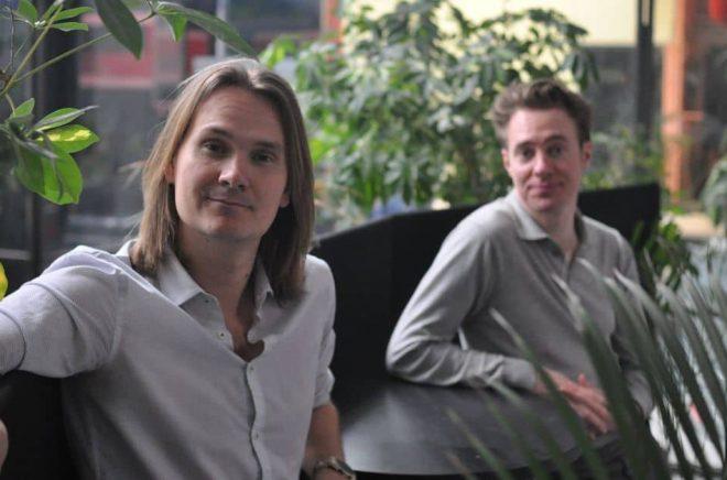 Sebastian Bernhard och Carl Magnus Juliusson, grundare av förlaget Delfyne. Foto: Pressbild