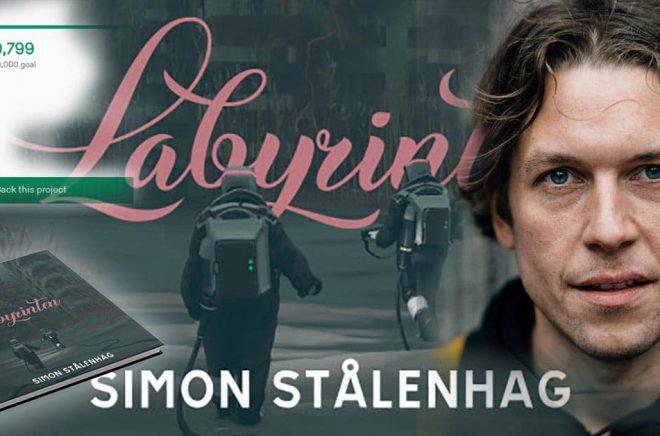 Ännu en framgångsrik Kickstarter för Simon Stålenhag som har läsare över hela världen. Pressbilder. Montage: Boktugg.