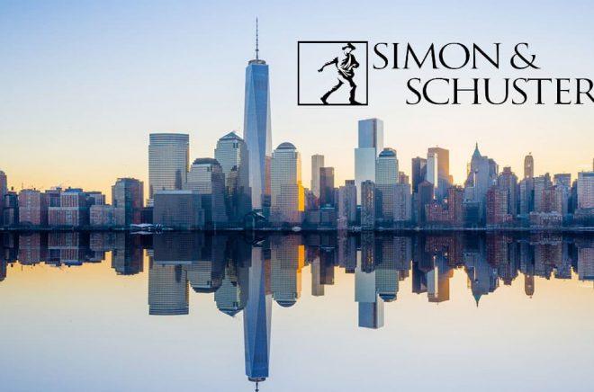 Förlaget Simon & Schuster ingår i ViacomCBS men är nu till salu. Deras kontor ligger på Manhattan i Simon & Schuster Building, en av Rockefellers skyskrapor på 36 våningar. Foto: iStock. Montage: Boktugg.