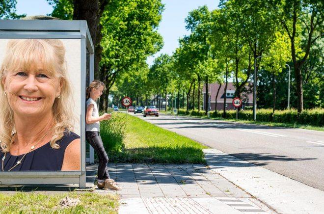Catrine Christell, VD och förläggare på Bokförlaget Opal. Foto: Pressbild. Bakgrundsfoto: iStock. Montage: Boktugg.