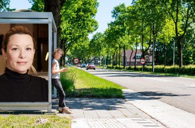 Marta Hedener, Head of Storytel Publishing Sweden. Foto: Pressbild. Bakgrundsfoto: iStock. Montage: Boktugg.