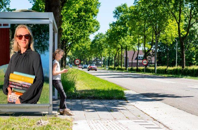 Sara Börsvik, VD Bonnierförlagen. Foto: Privat. Bakgrundsfoto: iStock. Montage: Boktugg.