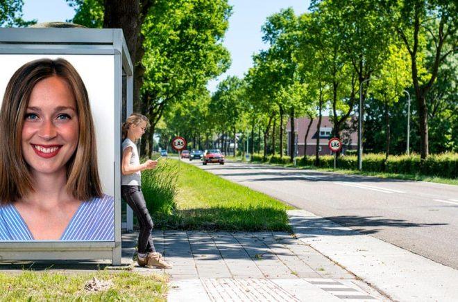 Sarah Linton, redaktör på LL-förlaget. Foto: Anette Säfström. Bakgrundsfoto: iStock. Montage: Boktugg.