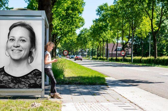 Zandra Weldon, förläggare på Bokförlaget Lind&Co. Foto: Pressbild. Bakgrundsfoto: iStock. Montage: Boktugg.