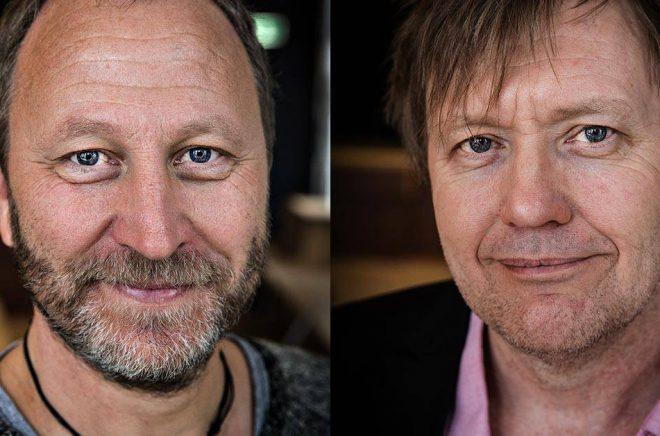 Författarna Sören Olsson och Anders Jacobsson flyttar från Egmont till Storytel. Foto: TT Nyhetsbyrån.