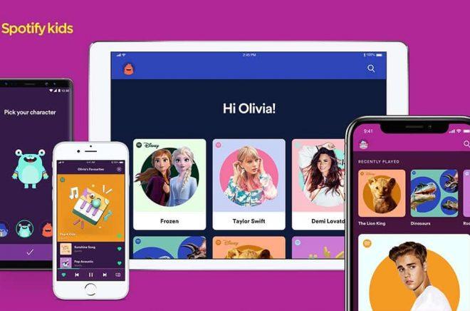 Den nya appen Spotify Kids ska locka barnen till Spotify med musik och ... ljudböcker. Foto: Pressbild.