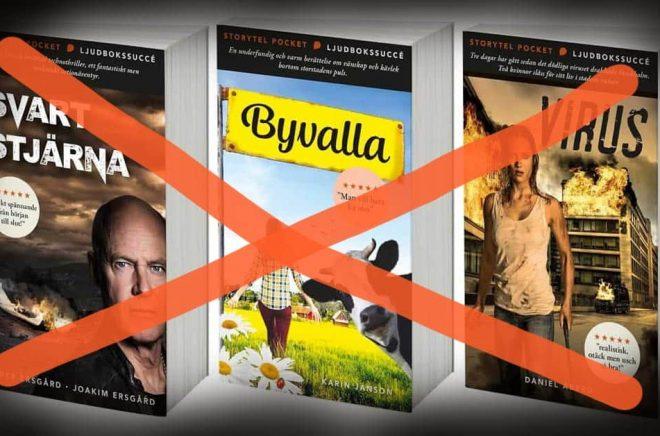 Tre år efter att dessa premiärtitlar släpptes läggs nu Storytel Pocket ner.