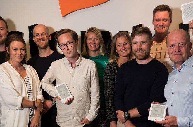 Här syns en stor del av Teamet bakom Storytel Reader. Adam Solberg, Peter Ekström, Ingrid Bojner, Amanda Spaner Åkerman, Jonas Tellander, Kajsa Berthammar, Mikael Holmqvist, Karl-Adam Granskog och Anders Carlén.