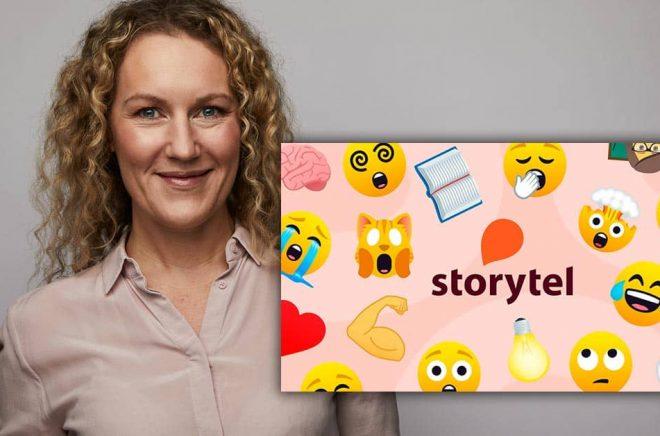 Åse Ericson, Sverigechef Storytel, hoppas att de nya emoji-recensionerna ska bli populära. Foto: Magnus Ragnvid/Storytel