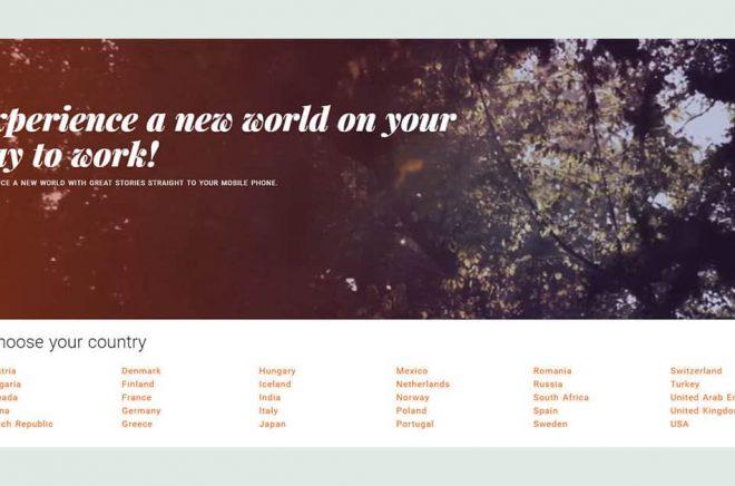 På Storytels internationella hemsida finns det redan idag 30 länder listade.