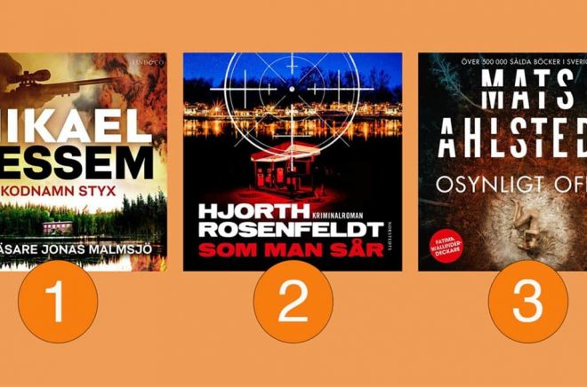 Mikael Ressems Kodnamn Styx ligger kvar i toppen på listan över de tio mest lyssnade och lästa böckerna på Storytel. Förra veckans tvåa och trea har bytt plats med varandra så att Hjorth-Rosenfeldts Som man sår klivit upp på andraplatsen medan Mats Ahlstedt placerat sig på tredjeplatsen med Osynligt offer.