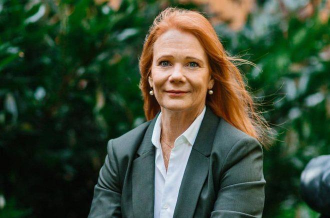 Susanne Hamilton, vd, förlagschef, förläggare på Bokförlaget Langenskiöld. Foto: Jenny Hammar