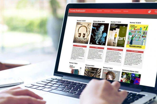 Svensk Bokhandel satsar mer resurser på sajten och drar ner till månadsutgivning av papperstidningen. Bakgrundsfoto: iStock.
