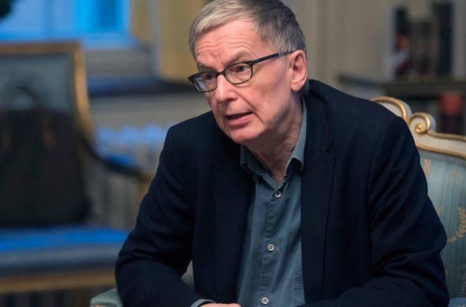 Svenska Akademiens ständige sekreterare Anders Olsson. Foto: Fredrik Sandberg/TT