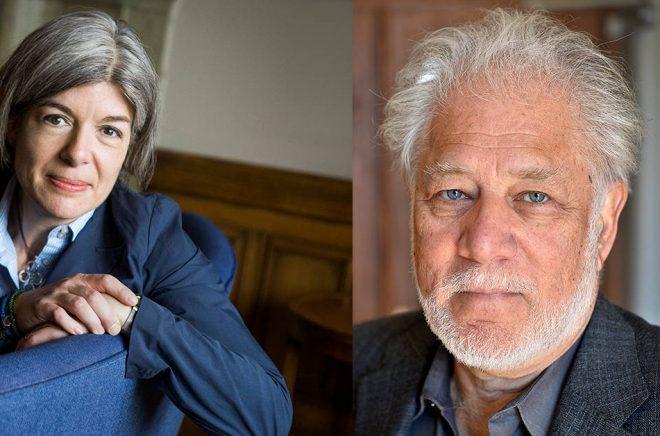 Claire Messud (Foto: Claudio Bresciani/TT) och kanadensiske författaren Michael Ondaatje (Foto: Anders Wiklund/TT) kommer till Internationell författarscen på Kulturhuset Stadsteatern i Stockholm under våren 2019.