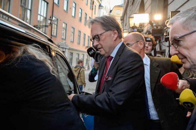 Akademiledamöterna Horace Engdahl och Anders Olsson. Arkivbild: Janerik Henriksson/TT.