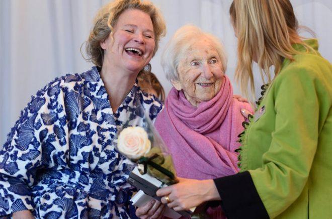 Hédi Fried har länge velat skriva om Förintelsen för barn. Tillsammans med Stina Wirsén (till vänster) har hon gjort