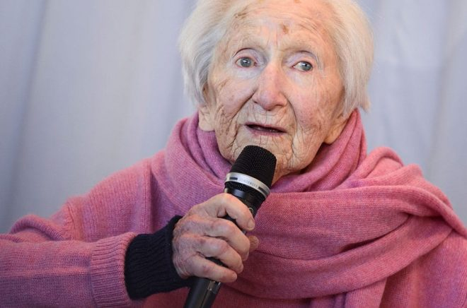 Författaren och förintelseöverlevaren Hédi Fried. Arkivbild: TT.