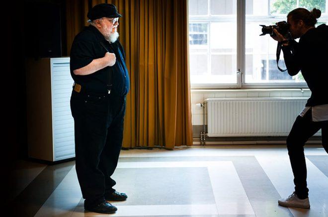 Författaren George RR Martin vid ett besök i Stockholm. Arkivbild: Pontus Lundahl/TT.