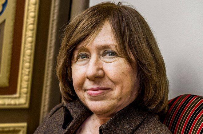 Svetlana Aleksijevitj, vitrysk Nobelpristagare i litteratur. Arkivbild: Claudio Bresciani/TT.