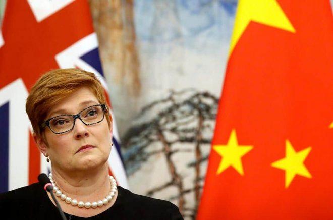 Australiens utrikesminister Marise Payne. Arkivbild: Mark Schiefelbein/AP/TT.