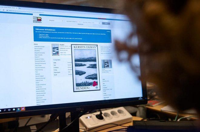 Begagnade böcker hittar nya ägare på nätet. Foto: Karin Wesslén / TT.