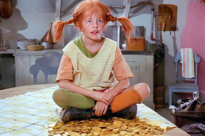 Hur stor blir budgeten för den nya filmatiseringen av Pippi Långstrump? Så här såg Pippi Långstrump ut i tv-serien från 1969. Arkivbild: SF / SVT.