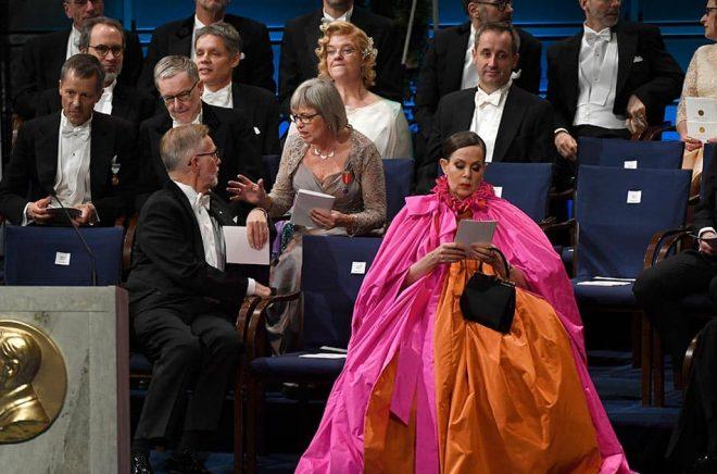 Sara Danius vid Nobelprisutdelningen i Konserthuset i Stockholm i december 2018. Arkivbild: Pontus Lundahl/TT.