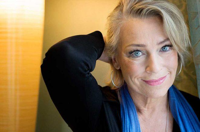Katarina Ewerlöf har en av de mest lyssnade rösterna i Sverige. Arkivbild: JESSICA GOW / TT.