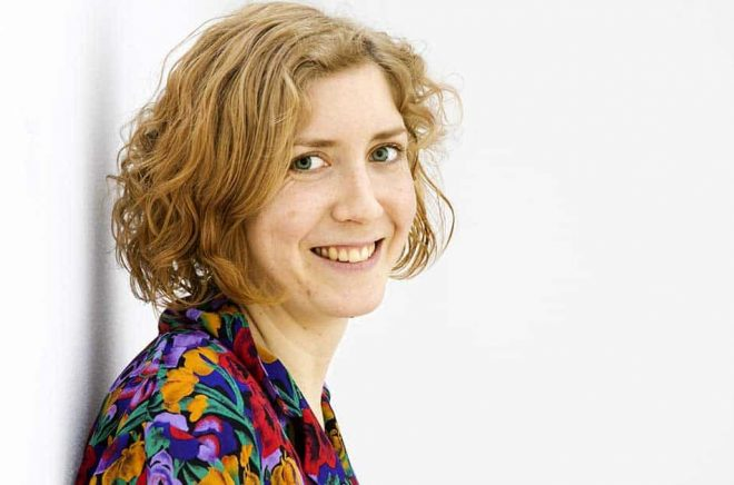 Amanda Svensson får Svenska Dagbladets litteraturpris 2019. Arkivbild: Ola Torkelsson/TT.