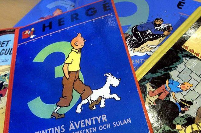 En Tintin-teckning har sålts för fyra miljoner kronor på en auktion i Paris. Arkivbild: Claudio Bresciani / TT.