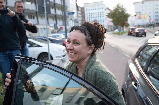 Olga Tokarczuk borde få Nobelpriset nästa år igen tycker hennes slovenske författarkollega Goran Vojnovic. Arkivbild: Friso Gentsch.