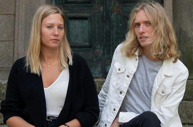 Anna Lundvik och poeten David Zimmerman tar över Lyrikvännen. Pressbild: Matthew Rana.
